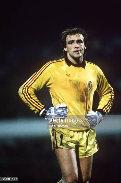 19th October 1988 World Cup Qualifier Brussels Belgium 1 v Switzerland 0 Gilbert Bodart Belgium goalkeeper