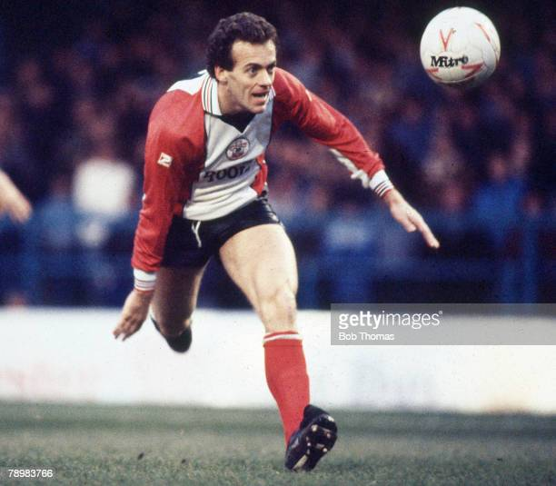 1st January 1985 Division 1 Alan Curtis Southampton striker who also won 35 Wales international caps between 19761987