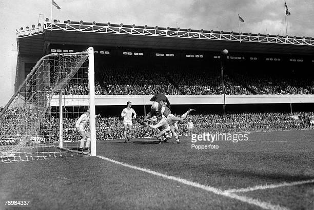1st May 1965 Division 1 Manchester United 1v Sheffield Wednesday 3 at Old Trafford Manchester United's Bobby Charlton sails past Sheffield...