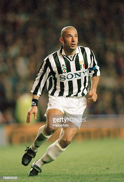 1st November 1995 UEFA Champions League Rangers 0 v Juventus 4 Gianluca Vialli Juventus Gianluca Vialli won 59 Italy international caps between...