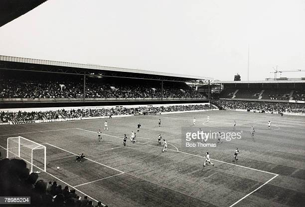 1st September 1981 The view from the stands as Queens Park Rangers' ground Loftus Road becomes the first stadium to hold a League fixture on...