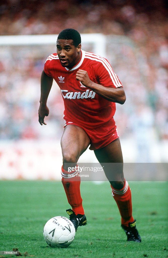 Sport. Football. pic: 20th August 1988.F.A. Charity Shield. Wembley. Liverpool 2 v Wimbledon 1. John Barnes, Liverpool. : News Photo
