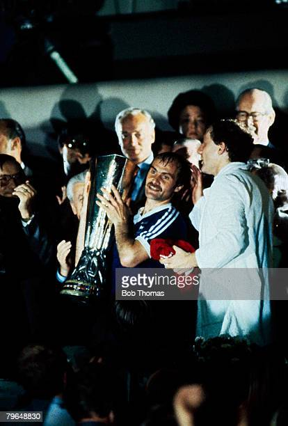 20th May 1981 UEFA Cup Final 2nd Leg AZ 67 Alkmaar 4 v Ipswich Town 2 Ipswich win 54 on aggregateIpswich Town captain Mick Mills proudly holds the...
