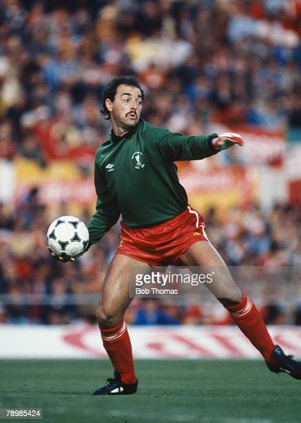 20th May 1984 European Cup Final in Rome Roma 1 v Liverpool 1 aet Liverpool won 42 on penalties Bruce Grobbelaar Liverpool goalkeeper