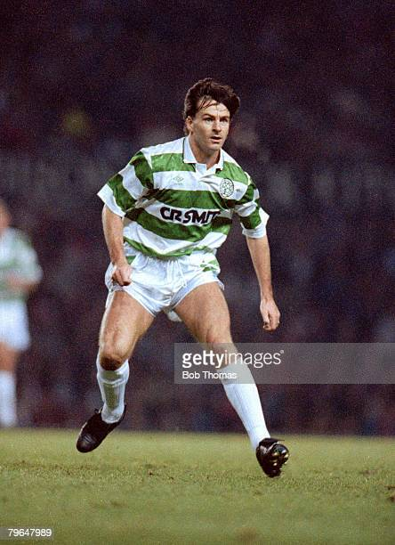 20th November 1990 Bryan Robson Testimonial Match Manchester United v Celtic Charlie Nicholas Celtic striker