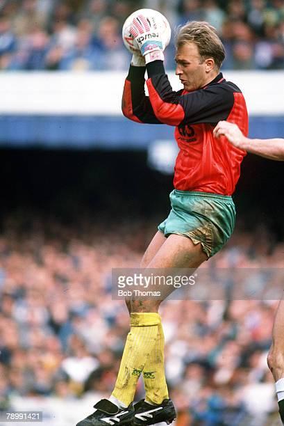21st April 1990 Bryan Gunn Norwich City goalkeeper