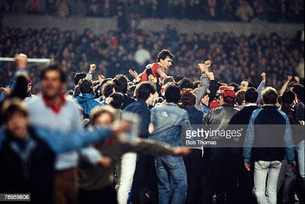 21st March 1984 European Cup Winners Cup Quarter Final 2nd Leg Manchester United 3 v Barcelona 0 United win 32 on aggregate Manchester United's 2...