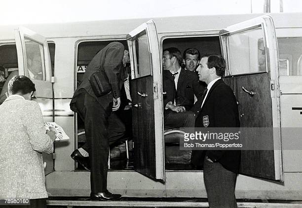 21st May 1962 1962 World Cup in Chile The England team arrive in Santiago in preparation for the World Cup after travelling from Lima where they had...