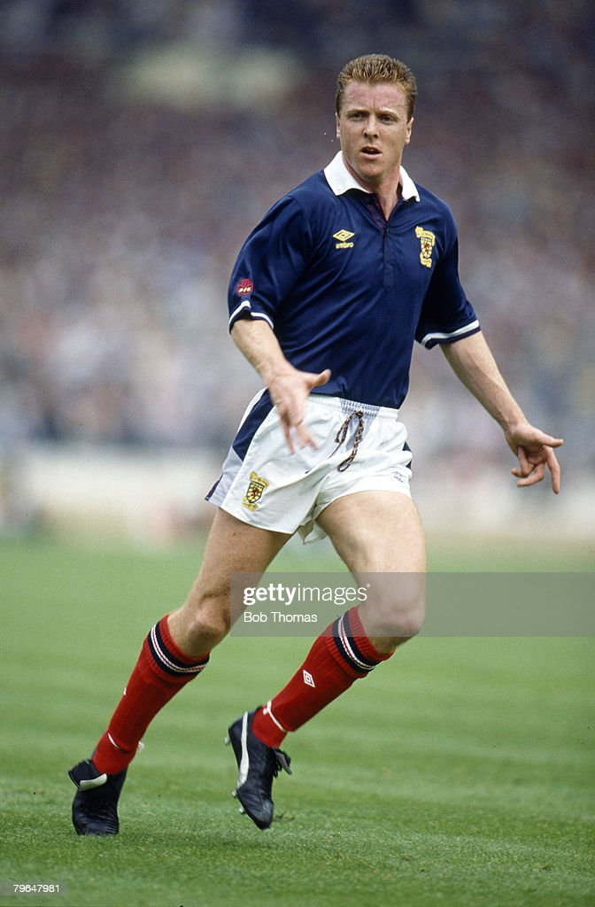 BT Sport, Football, pic: 21st May 1988, Rous Cup at Wembley, England 1 v Scotland 0, Steve Nicol, Scotland, who won 27 Scotland international caps between 1985-1992 : News Photo