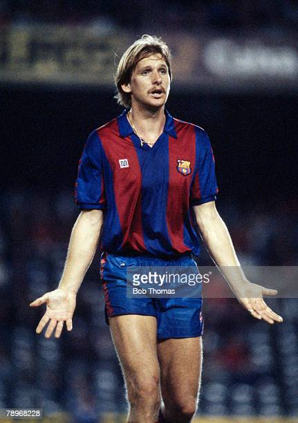 21st October 1987 UEFA Cup 2nd Round Ist Leg Bernd Schuster Barcelona Bernd Schuster won 21 West Germany international caps but was often in dispute...