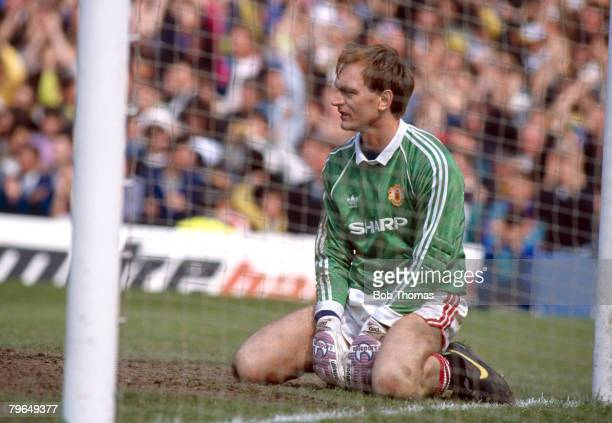 21th April 1990, Jim Leighton, Manchester United goalkeeper, who won 91 Scotland caps in a long international career 1983-1999