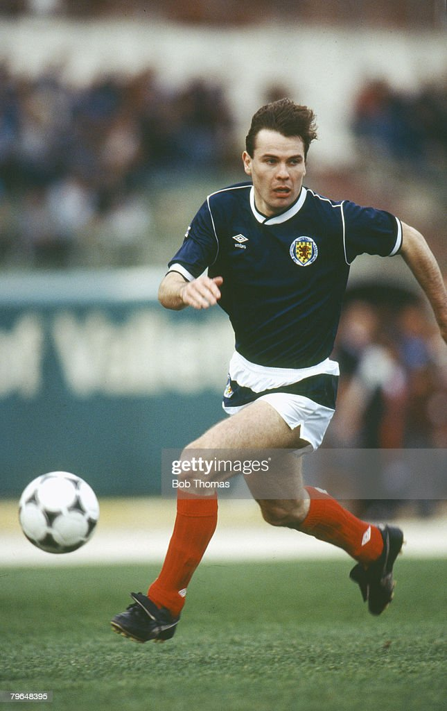 BT Sport, Football, pic: 22nd March 1988, Friendly International in Valetta, Brian McClair, Scotland, Brian McClair played for Manchester United 1987-1997 and won 30 Scotland international caps between 1987-1993 : News Photo