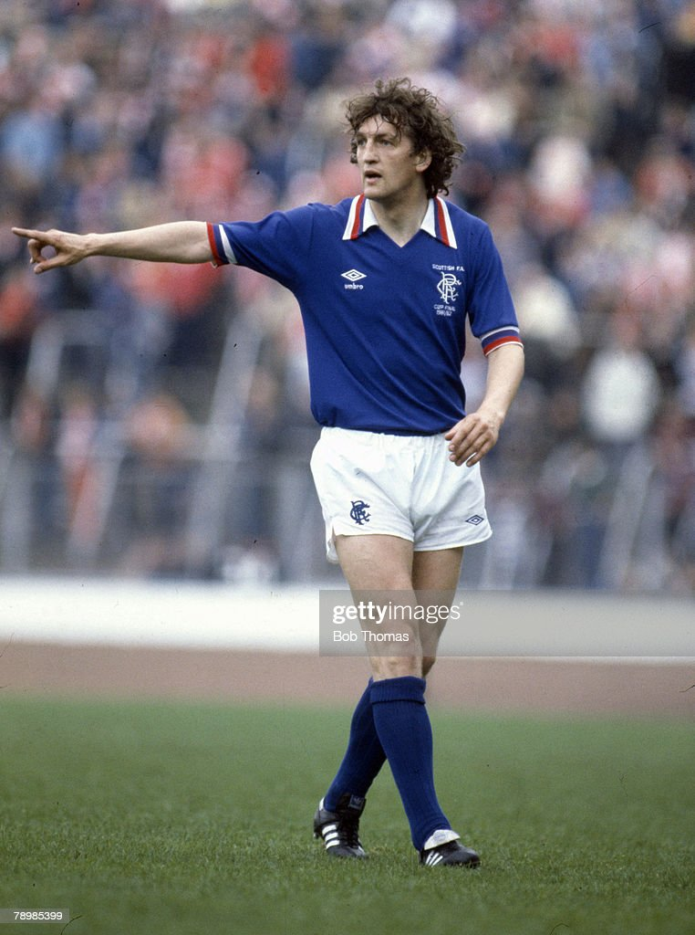 Sport. Football. pic: 22nd May 1982. Scottish FA Cup Final at Hampden Park. Rangers 1 v Aberdeen 4 aet. Colin McAdam, Rangers. : News Photo