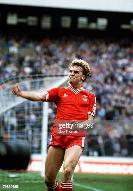 22nd May 1982 Scottish FACup Final Rangersv Aberdeen aet Aberdeen's Neale Cooper salutes the fans having just scored the 4th goal