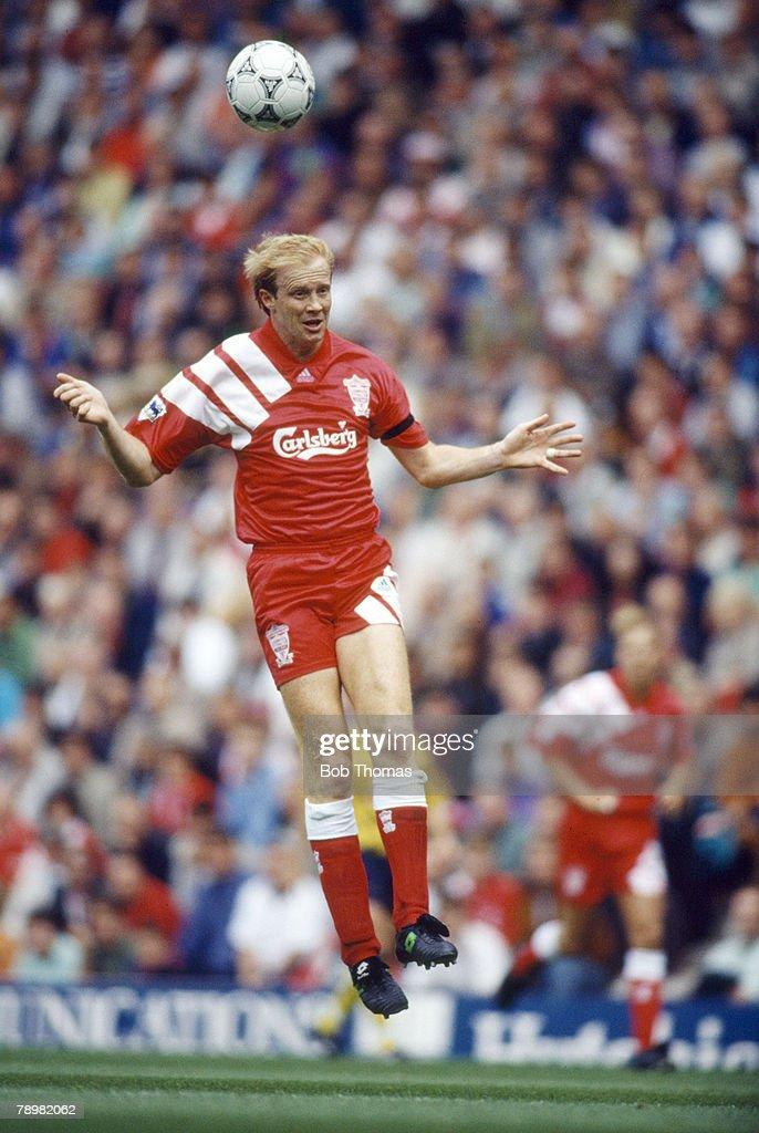 BT Sport. Football. pic: 23rd August 1992. Premier League. Mark Wright, Liverpool central defender 1991-1998. Mark Wright, won 45 England international caps between 1984-1996. : News Photo