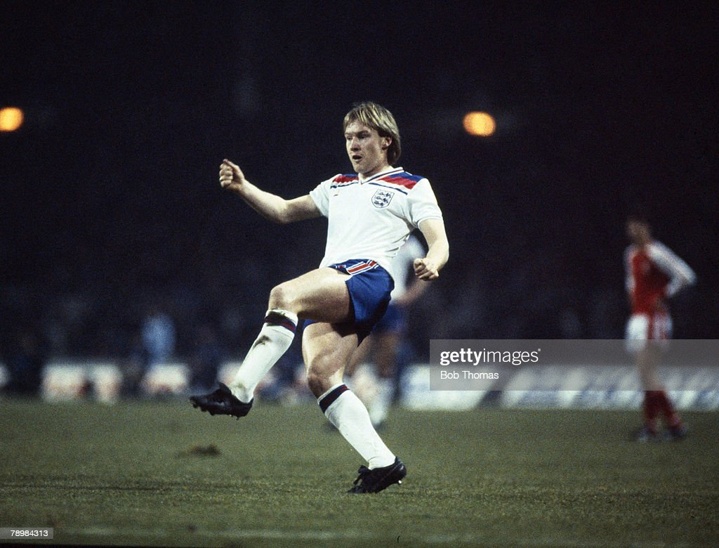 Sport. Football. pic: 23rd February 1983. British Championship at Wembley. England 2 v Wales 1. Derek Statham, England full back, who won 3 England international caps in 1983. : News Photo