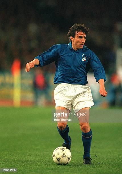 23rd March 1994 International Match Stuttgart Germany 2 v Italy 1 Antonio Benarrivo Italy