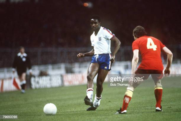 23rd May 1979 British Championship at Wembley England 0 v Wales 0 England's Laurie Cunningham opposed by Welshman John Mahoney Laurie Cunningham was...