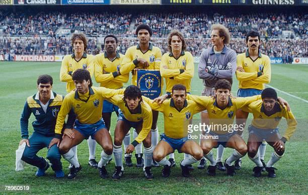 23rd May 1987 Friendly International in Dublin Brazil team group