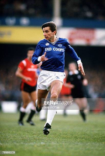 23rd November 1985 Division 1 Leicester City 3 v Manchester United 0 Leicester City striker Alan Smith racing at top speed
