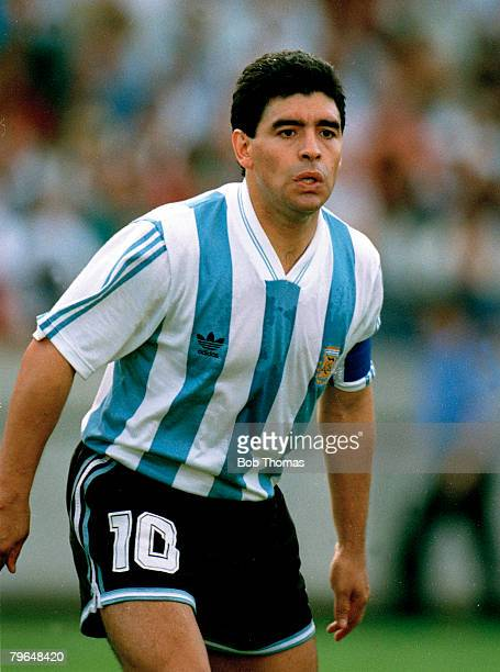 24th February 1993 Friendly International Argentina 6 v Denmark 5 Diego Maradona Argentina Diego Maradona won 91 Argentina international caps between...