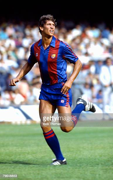 24th July 1986 Barcelona Gary Lineker Barcelona and England pictured in his Barcelona kit Gary Lineker one of England's best ever strikers won 80...