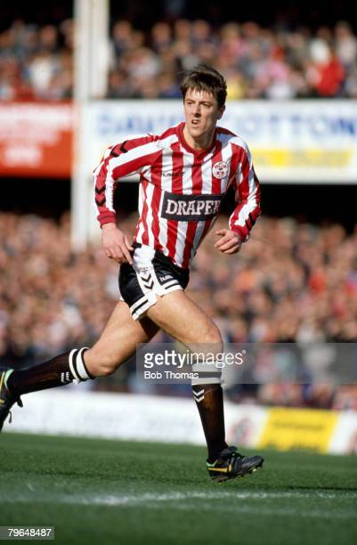 24th March 1990 Division 1 Southampton 0 v Manchester United 2Matt Le Tissier Southampton who played for the 'Saints' 19862002 who won 8 England...
