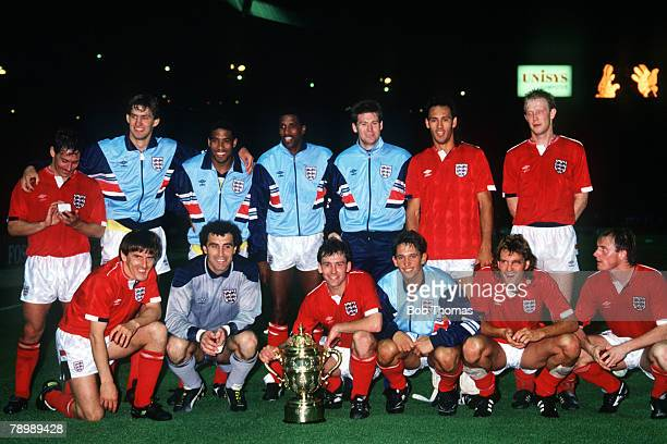 24th May 1988 Rous Cup at Wembley England 1 v Colombia 1 England the 1988 Rous Cup Winners Back row lr Sansom Adams Barnes Anderson Waddle Hateley...