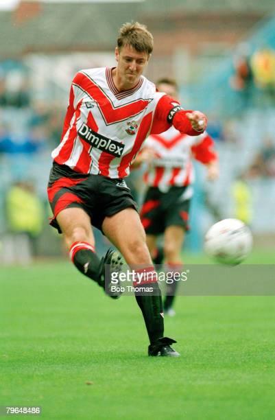 24th September 1994 Premiership Football Southampton's Matt Le Tissier fires in a shot Matt Le Tissier won 8 England international caps between...