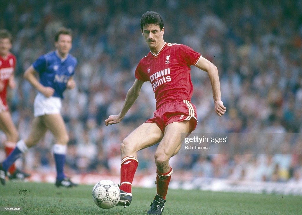 Sport. Football. pic: 25th April 1987. Division 1. Liverpool 3 v Everton 1. Ian Rush, Liverpool striker 1979-1996, who also won 73 Wales international caps between 1980-1996. : News Photo