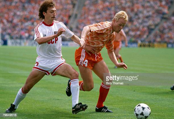 25th June 1988 European Championship Final Munich Holland 2 v USSR Holland's Ronald Koeman right challenged by USSR's Sergei Aleinikov