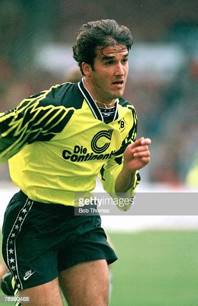 25th March 1995 German League KarlHeinz Riedle Borussia Dortmund