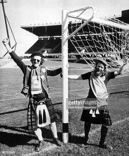 25th May 1978 1978 World Cup Finals in Argentina Scotland fans in kilts arrive in the stadium in Cordoba where they were to watch Scotland play their...