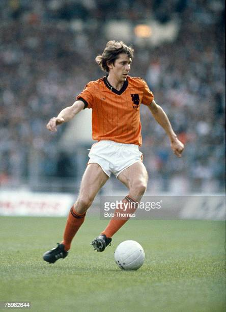 25th May 1982 Friendly International at Wembley England 2 v Holland 0 Arnold Muhren Holland midfielder