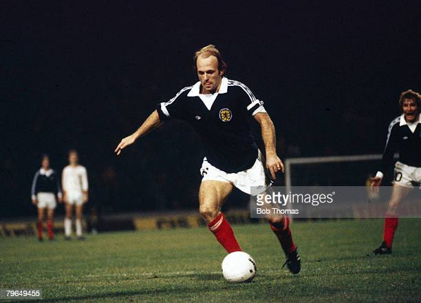 25th October 1978 European Championship Qualifier Scotland 3 v Norway 2 Scotland's Archie Gemmill who scored the winning goal from the penalty spot