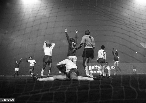 26th February 1968, European Cup Quarter Final 1st Leg, Manchester United 3, v Rapid Vienna 0, at Old Traford, Manchester United's George Best has...