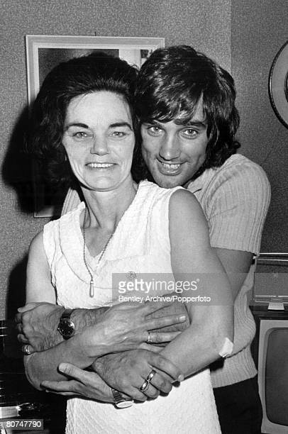 27th June 1970 Manchester United and Northern Ireland'superstar' George Best pictured with his mother Ann