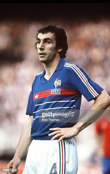 27th June 1984 European Championship Final Paris France 2 v Spain 0 Maxime Bossis France