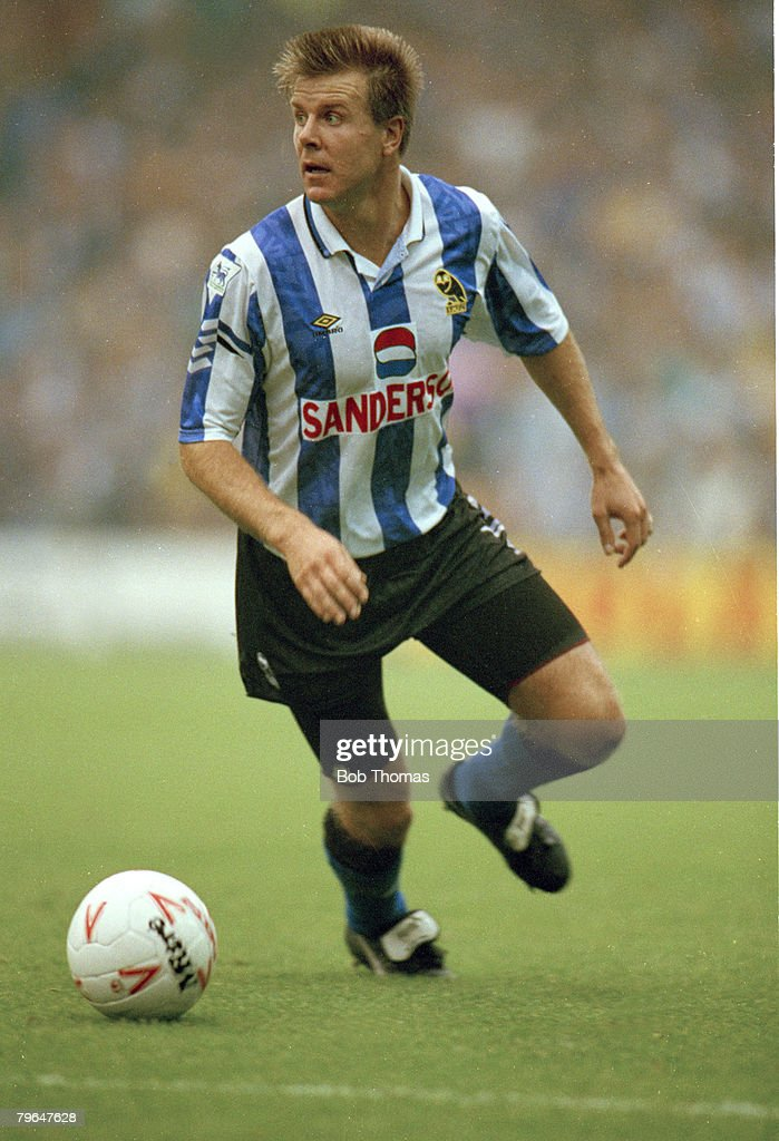 BT Sport, Football, pic: 27th September 1992, FA, Premier League, Roland Nilsson, Sheffield Wednesday 1989-1994, the Swedish international defender : News Photo