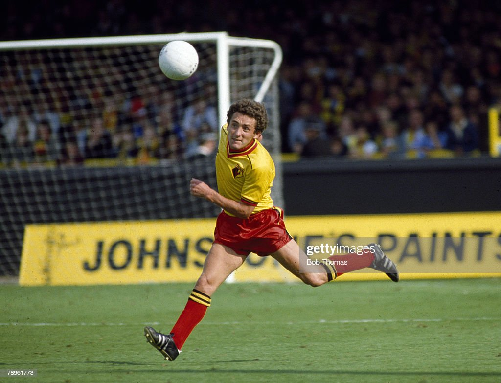 Sport. Football. pic: 28th August 1982. Division 1. Wilf Rostron, Watford defender 1979-1988. : News Photo