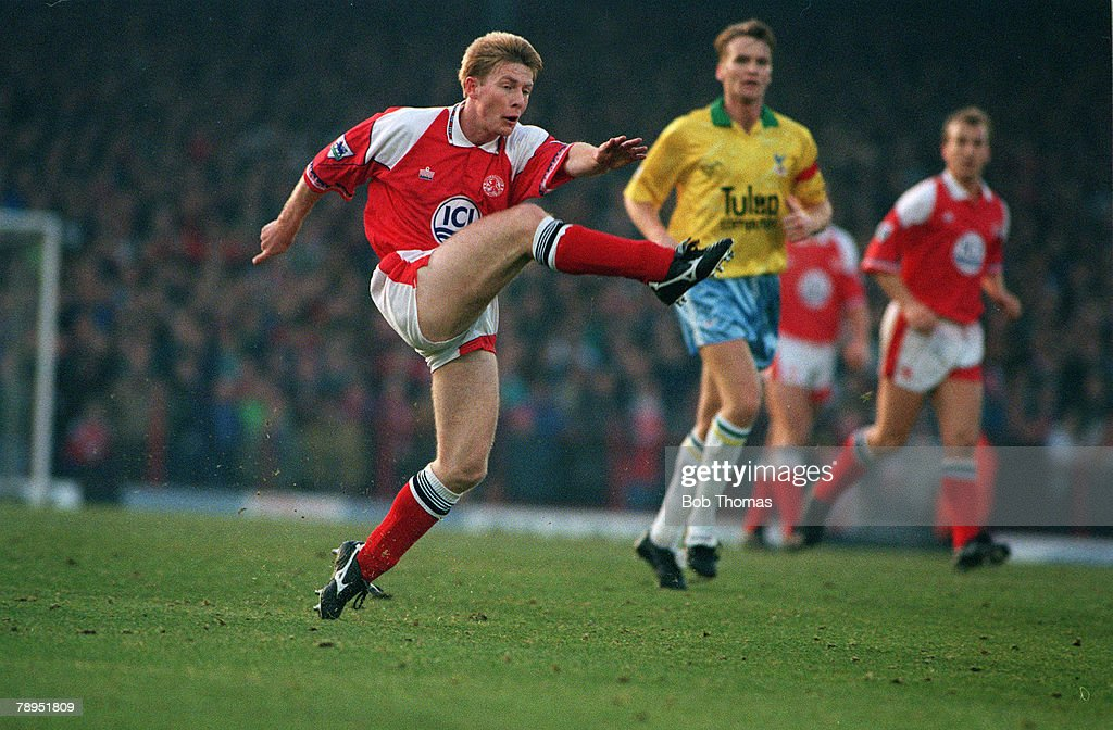 Sport. Football. pic: 28th December 1992. Premier League. Middlesbrough 0 v Crystal Palace 1. Craig Hignett, Middlesbrough. : News Photo