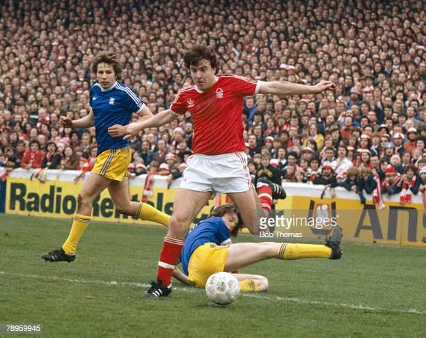 29th April 1978 Division 1 Nottingham Forest's John Robertson beats two Birmongham City defenders John Robertson Nottingham Forest 19701983 19851986...