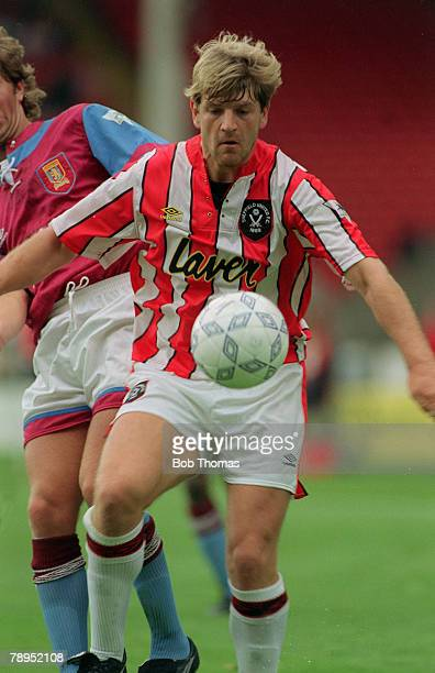 29th August 1992 Premier League Sheffield United 0 v Aston Villa 2 Glyn Hodges Sheffield United