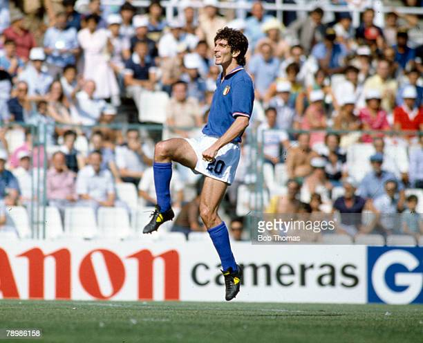 29th June 1982, 1982 World Cup Finals in Spain, Italy 2 v Argentina 0 in Barcelona, Paolo Rossi, Italy striker