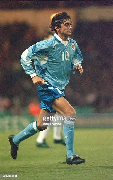29th March 1995 Wembley Enzo Francescoli Uruguay