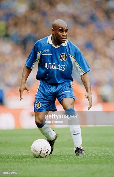 29th March 1998 Coca Cola Cup Final at Wembley Chelsea 2 v Middlesbrough 0 FranK Sinclair Chelsea defender