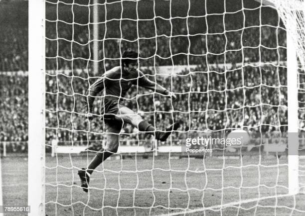 29th May 1968 European Cup Final at Wembley Manchester United 4 v Benfica 1 Manchester United's George Best lashes the ball into the net but was to...