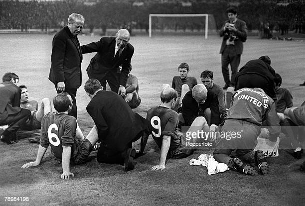 29th May 1968 European Cup Final at Wembley Manchester United 4v Benfica 1 aet Manchester United Manager Matt Busby and his assistant Jimmy Murphy...