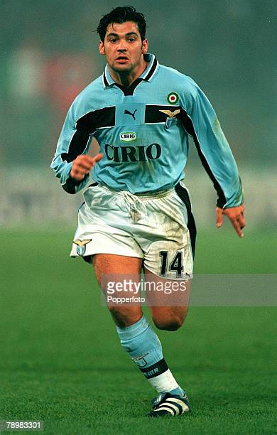 29th November 1998 Italian League Serie A Rome Laziov Roma Sergio Conceicao Lazio Conceicao a Portuguese international as also played for other...