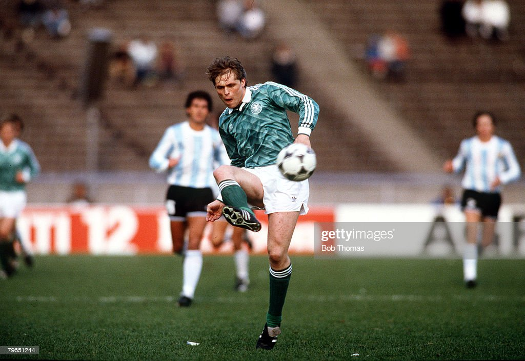 Sport, Football, pic: 2nd April 1988, Tournament in West Berlin, West Germany 1 v Argentina 0, Ulrich Borowka, West Germany : News Photo